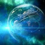 宇宙創造の神の光